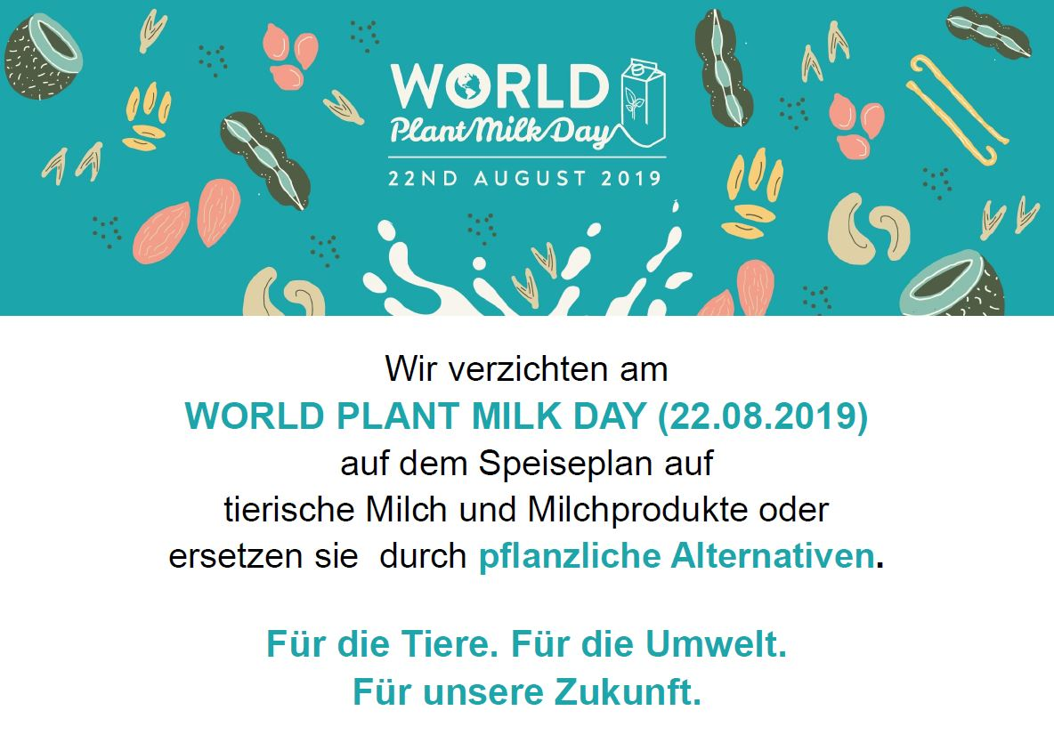 Wold Plant Milk Day Plakat